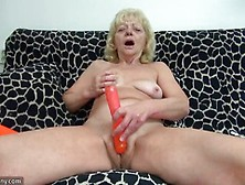 Mature Blonde Toys Her Pussy