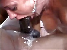 Shes Gagging And Choking On Many Black Dicks