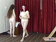 2 Pretty Ladies Play A Game Of Strip Darts