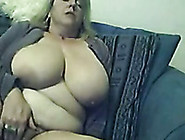 Chubby Blonde Mom Plays With Her Tits And Cunt In Webcam Solo