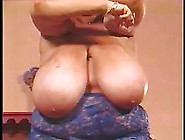 Ebony Woman Has Gigantic Milk Jugs And Likes Showing Them To The
