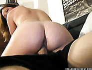 Big Assed Brunette Tramp Rides Massive Dick Of One Freak With Pa