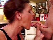 Sexy Brunette Milf Takes A Hard Young Cock For Fun