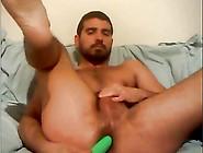 Gay Greek Boy Fucks His Ass With Dildo, Cums On Cam