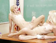 Lesbian Sex On The School Desk