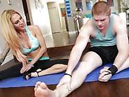 Yoga Teacher Sarah Jessie Seduces Her Student