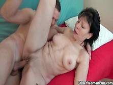 Grandma's Old Pussy Craves Hard Cock