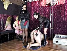 Ezada Sinn And Lady Victoria Valente Double Caning