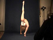 Bony Teen Ballerina Poses For Pics Bottomless