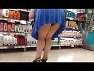 Blue Mini Dress Black Panty And Heels