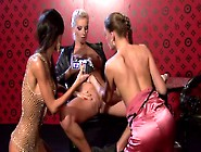 Three Insatiable Divine Lesbians Tongue Fuck Each Other's Steamy