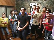 Asian Slut Sucks Dick At A Hot College Party With Teens