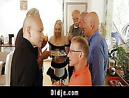 Young Lolita Taylor Gang Banged By 7 Horny Grandpas!