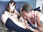 Young Japanese Student Fuck And Squirting,  Cum On Hairy Pussy
