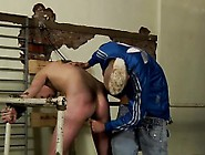 Gay Orgy Chained To The Railing,  Youthfull And Slick Alex Ca