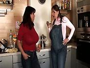 Milena Velba - Nadine Jansen Pregnant In Kitchen (Hdv)