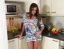 Sensual Jane Takes Solo Time In The Kitchen With Spray Cream And