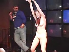 Slut Gets On Stage Naked