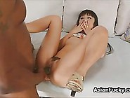 Tall,  Black Guy Likes To Hire A Petite,  Japanese Brunette To Sat