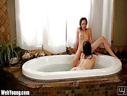 Webyoung Wet Bath Time Lesbian Teens Pussy Eating