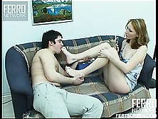 Sexy Foot Fetish Fun With Slutty Brunette Irene A And Horny Dude