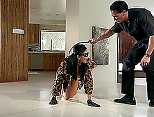 A Master Makes His Slave Crawl Around On The Floor Before Fuckin
