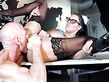 Gigantic Titted Peta Jensen Rammed Across The Boardroom Table Re