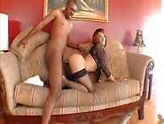 Bad Ass Redbone Slut Gets Drilled In The Ass