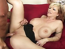 Stacked Blonde Milf Shares A Long Prick With A Petite Young Brun
