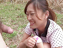 Subtitled Bottomless Outdoor Japanese Golf Blowjob Uncensored In