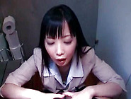 Cute And Adorable Asian Teen Is Doing Real Handjob
