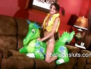 Sexy Teen Babes Hump Balloons