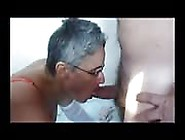 Mature Granny Sucks And Fucks With Two Horny Guys