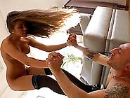 Omar Galanti Licks And Fucks Long-Haired Beauty Roxy Bell's Hole
