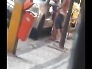 Flagra No Rio De Janeiro,  Casal Cheiradão Transando Na Rua