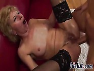 Blonde Mature Gets An Anal Creampie After Young Buck Fucks Her A