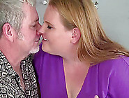 Obese Blonde Scarlet Makes Out With An Old Man And Rides His Wan