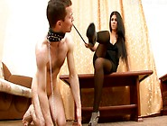 He Strips Off Her Nylons And Licks Her Sexy Feet