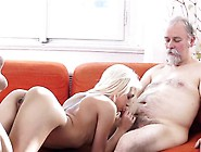 Avid Old Boy Fucks Mouth And Juicy Pussy Of A Young Girl