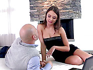 Beautiful Brunette Babe Foxy Di Is Crazy About Anal Sex