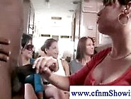 Cfnm Lady Makes Cock Cum On Her Tits In Front Of Friends
