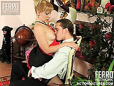 Lustful Blonde Mom Silvia Seduces The Young Stud Mike To Have Hi