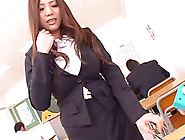Busty Japanese Babe Has Her Tight Asian Cunt Plowed
