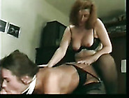 Ugly Fat Bitch In Black Stuff Fucks Brunette's Pussy With Strapo