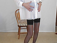 Sheer White Over Black Nylons