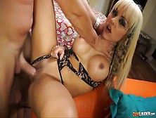 Spanish blondie Melody Star sucks and fucks for a load of cum