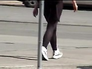 Seducing Bottom Of The Candid Voyeur Girl In The Street 07S
