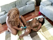 Two Bootylicious Chocolate Lesbians Are Ready For Hot Masturbati