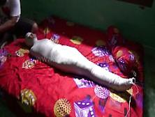 [Mummification. Net] Pretty Girl Mummified In A Blanket