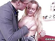 Tiny Blonde Sara Hilton Rough Ass Fuck
